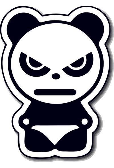 Areksan Angry Panda Sticker 13 cm