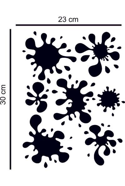 Areksan Siyah Renk Çamur Lekesi Sticker Sticker 23 x 30 cm