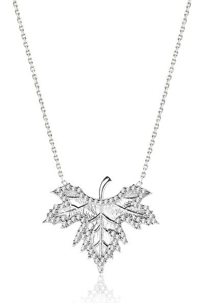 Khailo Silver Sonbahar Yaprağı Kolye N1116Ww