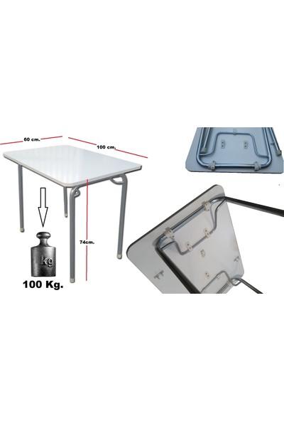 Depolife Katlanır Ayaklı Yemek ve Çalışma Mutfak Balkon Salon Masası 60cm x 100cm