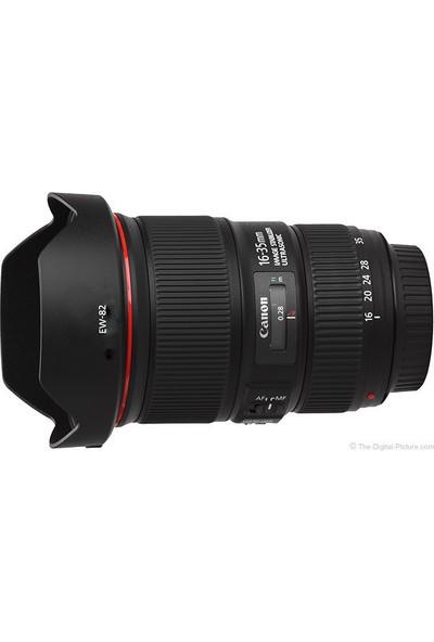 Canon Ew 82 Lens Hood Parasoley Ef 16 35Mm F4L Is Usm Uyumlu