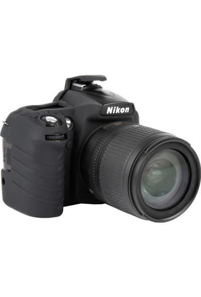 Easycover Nikon D90 + Silikon Kılıf Ekran Koruyucu (Siyah)