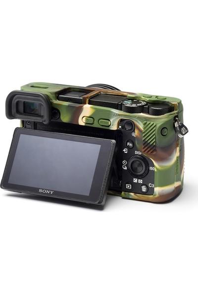 EasyCover Sony A6500 Silikon Kılıf ECSA6500C (Kamuflaj)