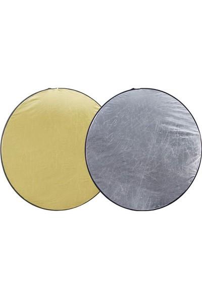 Ayex Reflektör Işık Yansıtıcı 80Cm 2 İn 1 Gold Silver