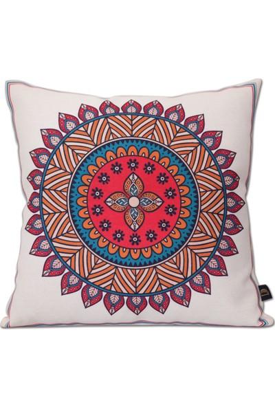 Demeter Tekstil Tasarım Dijital Baskı Dekoratif Kırlent Renkli