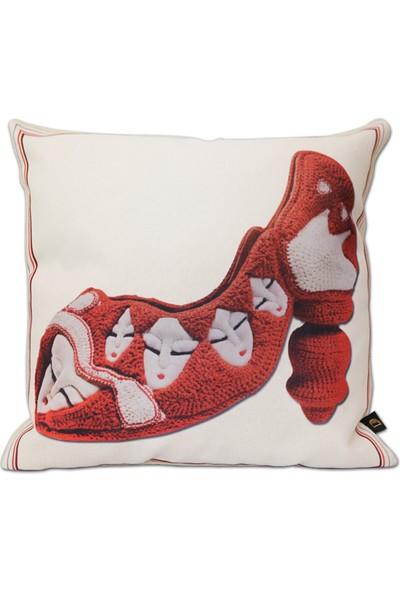 Demeter Tekstil Tasarım Dijital Baskı Dekoratif Kırlent Ayakkabı