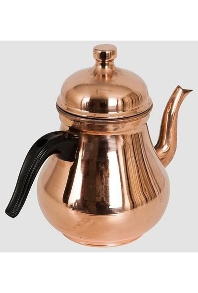 Meşale Bakır Demlik Orta Antik Kahveci Takım Çay Kazanı Ocağı