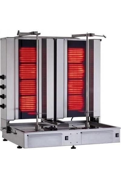 Kalitegaz Elektrikli Döner Makinası 8 Radyan Alttan Motor Robax