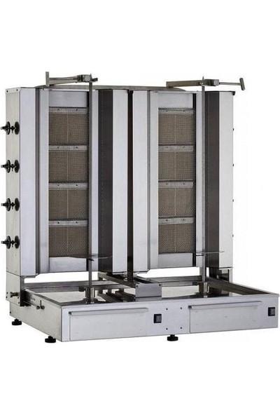 Kalitegaz Tüplü Döner Makine Doğalgaz 8 Radyan Alttan Motor İkiz
