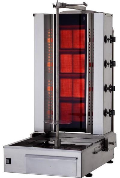 Kalitegaz Tüplü Döner Makinası Doğalgaz 4 Radyan Alttan Motor Cam