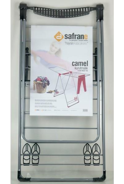 Assan Camel 5mm Kalın Tel Çamaşır Kurutmalık Siyah-Gri