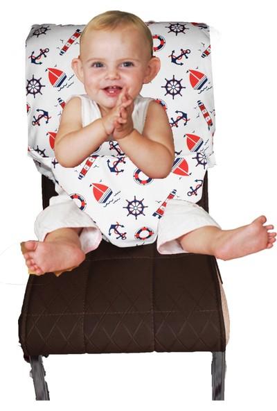 Baskaya Bebek Sandalye Güvenliği Kumaş Ayarlanabilir Emniyet Kemerli