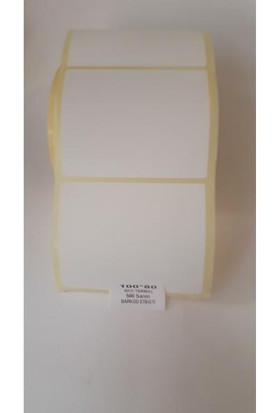 Özsaraç Etiket Barkod Etiketi Eko Termal 80X100