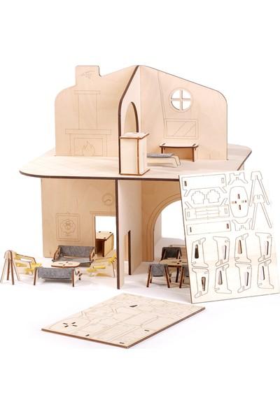 Mamatoyz 12 Benim Evim Ahşap Oyun Evi Doll House