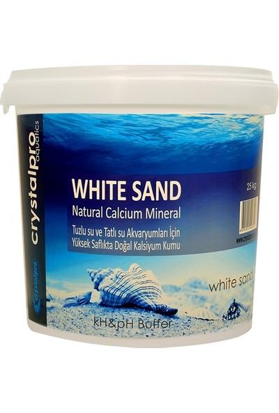 Crystal Pro White Sand 25 Kg Kalsiyum Karbonatlı Akvaryum Kumu