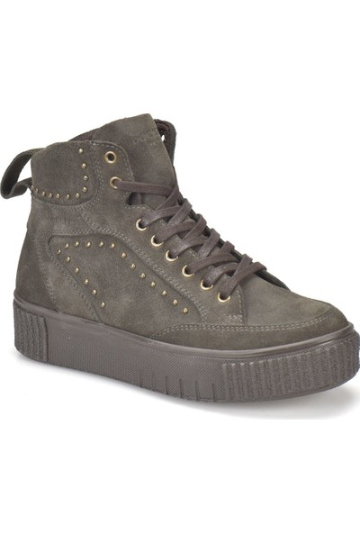 Dockers 225485 Antrasit Kadın Deri Sneaker