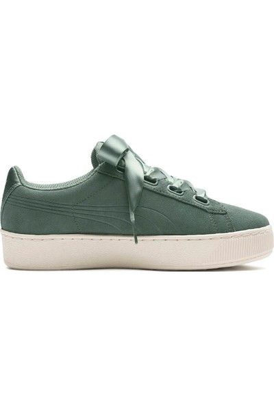 Puma Vikky Platform Ribbo Yeşil Bej Kadın Süet Sneaker