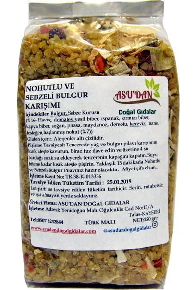 Asudan Doğal Gıdalar Nohutlu ve Sebzeli Bulgur Karışımı 250 gr