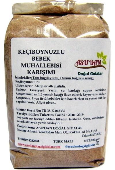 Asudan Doğal Gıdalar Keçiboynuzlu Bebek Muhallebisi 220 gr