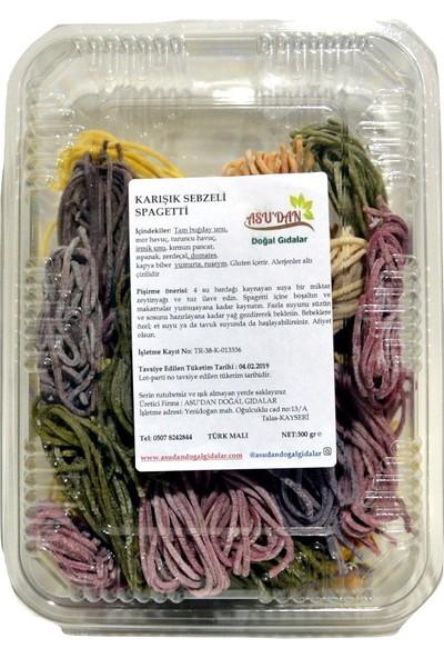 Asudan Doğal Gıdalar Karışık Sebzeli Spagetti 300 gr