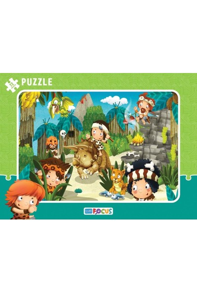Blue Focus 72 Parça Büyük Boy Çocuk Puzzle (Hayvanlarla Ormanda)