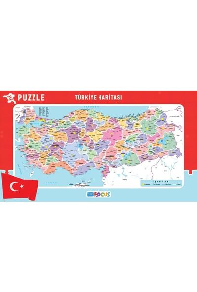Blue Focus Türkiye Haritası Puzzle (Her İl Ayrı Parça - 43x24 Parça)