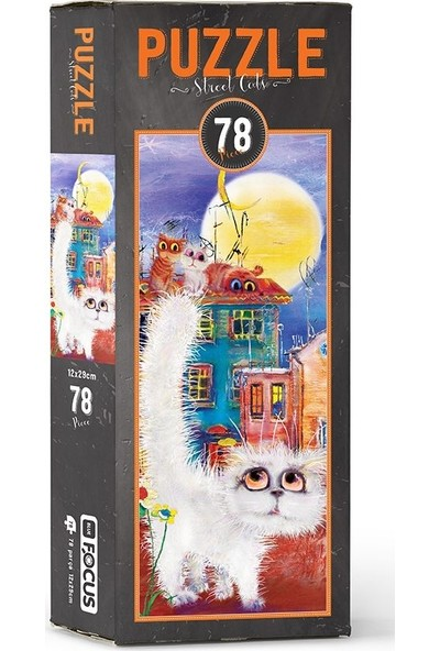Blue Focus BF056 Street Cats 78 Parça Puzzle