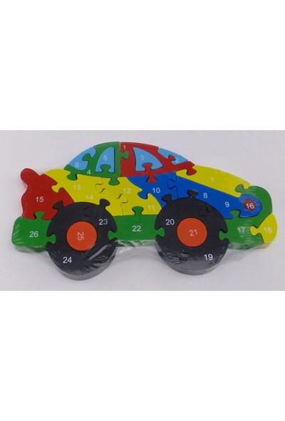 Wooden Toys Ahşap 20 Parça Yarış Arabası Puzzle
