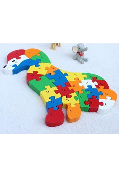 Wooden Toys Köpek Şekilli 26 Parça Ahşap Puzzle