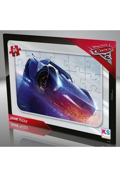 Ks Games Cars 24 Parça Frame Puzzle - Mavi - CR707