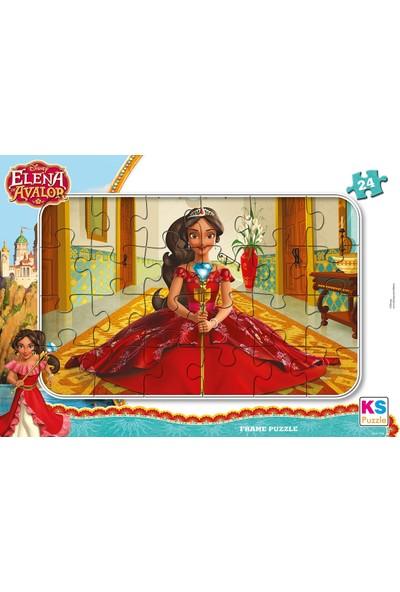 Ks Games Prenses Elena 24 Parça Frame Puzzle - ELN704