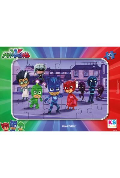 Ks Games PJ Masks 24 Parça Çocuk Puzzle - Pİjamaskeliler - PJM704