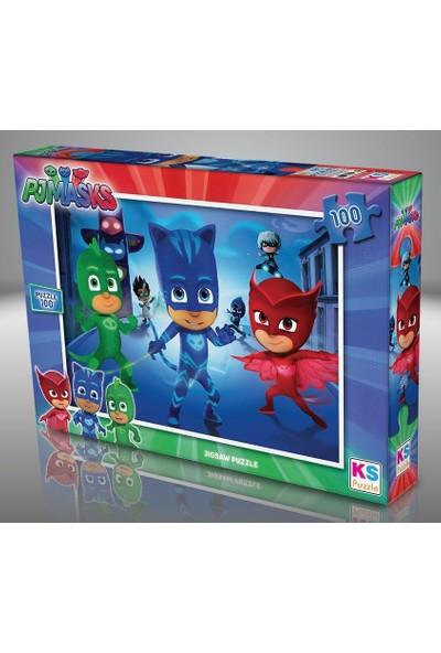 Ks Games 100 Parçalık Pijamaskeliler Çocuk Puzzle - PJM714