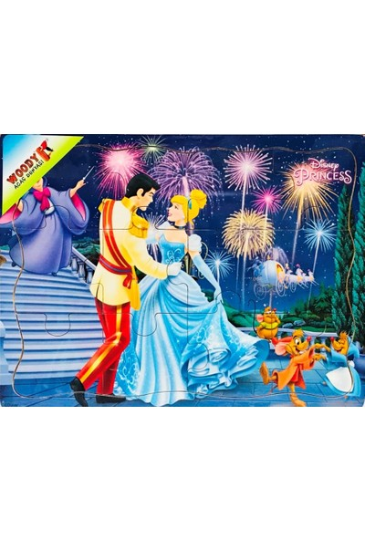 Woody Disney Prenses Sindirella 12 Parça Tahta Çocuk Yapboz