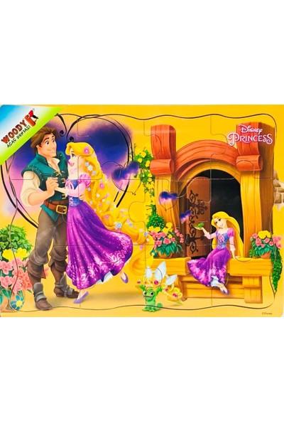 Woody Disney Prenses Rapunzel 12 Parça Tahta Çocuk Yapboz