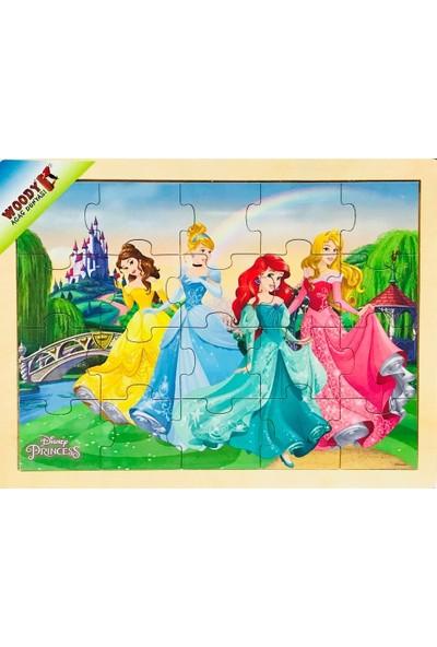 Woody Disney Prensesleri 20 Parça Ahşap Puzzle