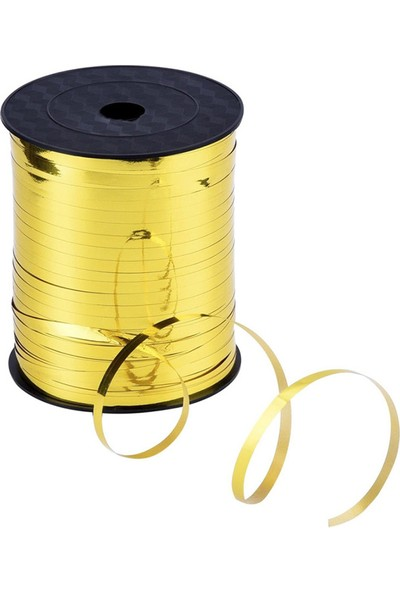 Kazanabil Parlak Metalik Şerit Rafya 8mmx200mt Gold