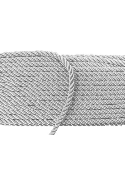 Kazanabil 8 mm X 50 Metre Halat Kordon İp Süsleme Malzemesi Gri