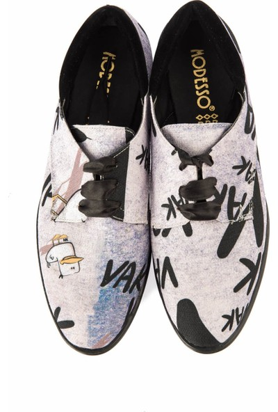 Pembe Potin Gri Kadın Casual Ayakkabı