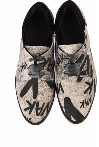 Pembe Potin Siyah Kadın Casual Ayakkabı