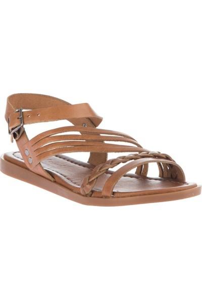 Pembe Potin Taba Kadın Sandalet