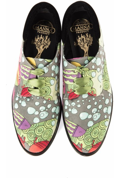 Pembe Potin Yeşil Kadın Casual Ayakkabı
