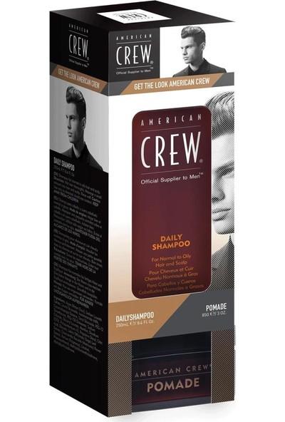 American Crew 2Li Set Günlük Sampuan 250 ml + Pomede Wax 85 ml