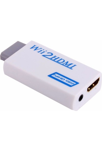 Alfais 4542 Nintendo Wii için HDMI Tv Kablo Çevirici Dönüştürücü Adaptör