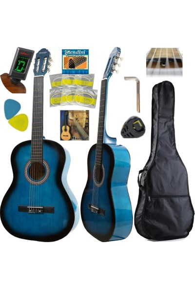 Hidalgo Klasik Gitar Set - Hidalgo Mh860 Sap Ayarlı Tam Boy Yetişkin Gitarı
