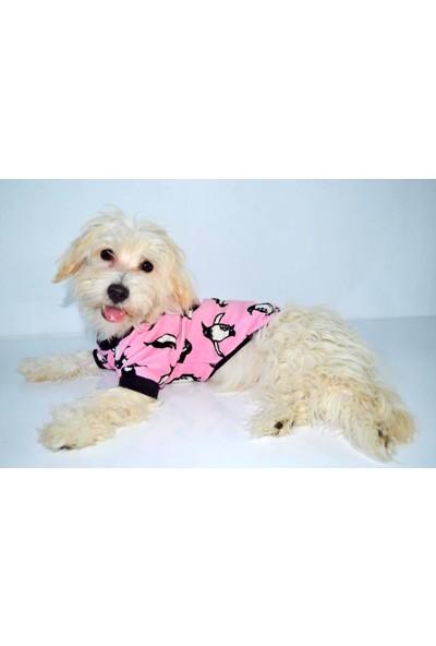 Dogi & Dog Penguen Polarlı Sweat Köpek Elbisesi