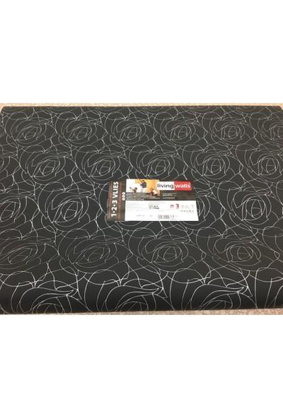 As-Creation 10 M2 Alman Malı 254412 Siyah Desenli Duvar Kağıdı