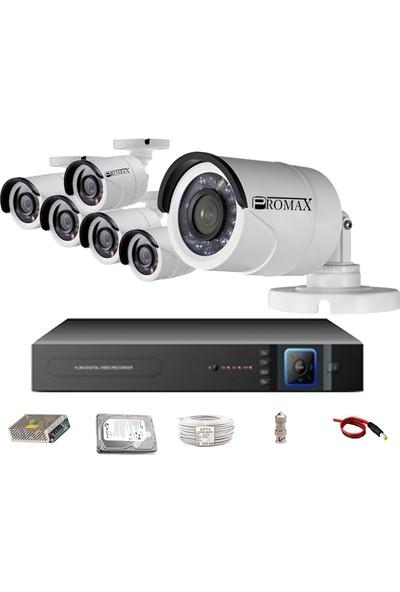 Pro2024 6' Lı 3 Megapiksel Sony Lens 1080P Aptina Sensör Haıkon Kasa Güvenlik Kamerası Seti