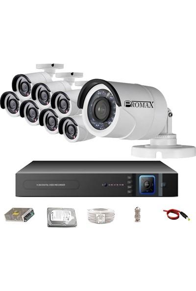 Pro2024 8' Li 3 Megapiksel Sony Lens 1080P Aptina Sensör Haıkon Kasa Güvenlik Kamerası Seti
