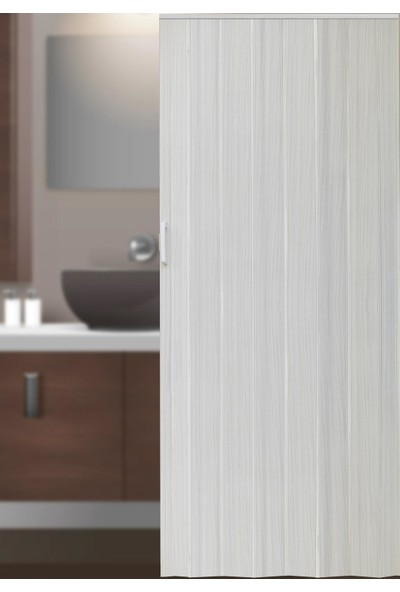Decotex İnce Akordiyon Kapı Dişbudak Beyaz 96x203 PVC Katlanır Kapı 0,6mm Kalınlıkta